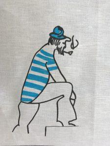 Handtuch Matrose blau groß_
