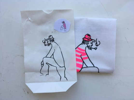 Handtuch Matrose pink