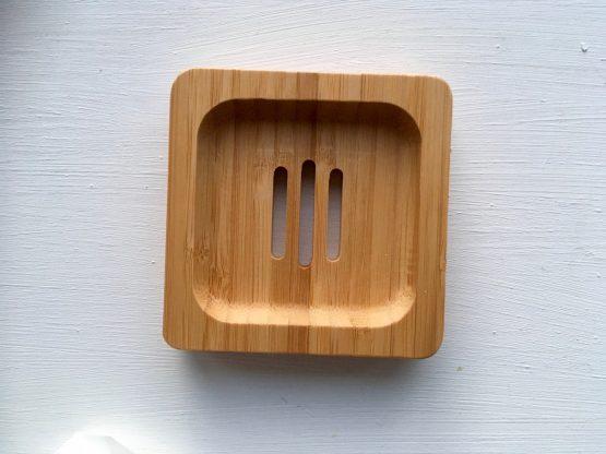 Bambus_Seifenschale_quadratisch_ohne Seife