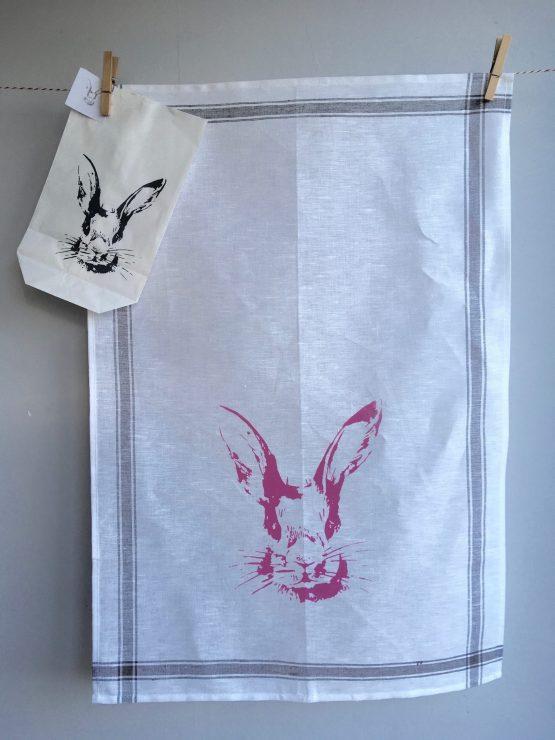 Handtuch Hasenkopf rosa