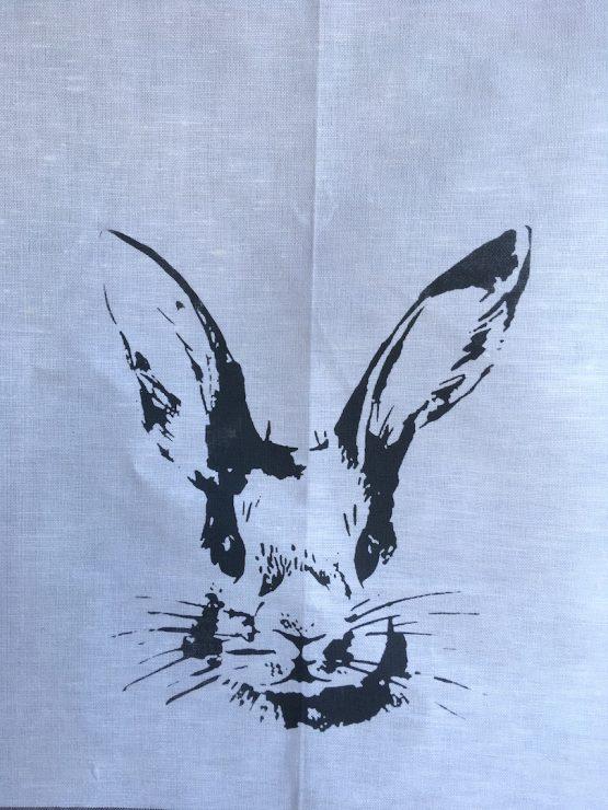 Handtuch Hase grau