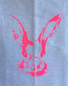 Handtuch Hasenkopf pink