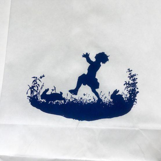 Papiertüte mit Kind ohne Henkel