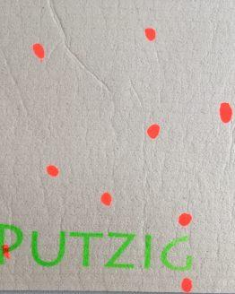 utzlappen neonrot grün putzig