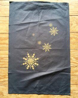 Handtuch Sterne gold