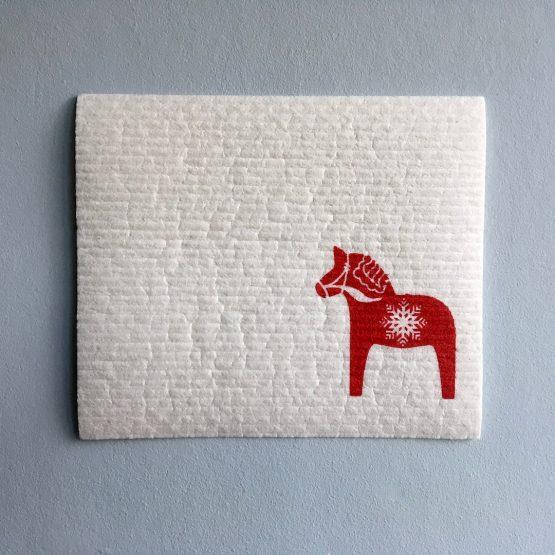 Schwammtuch_Pferd_rot