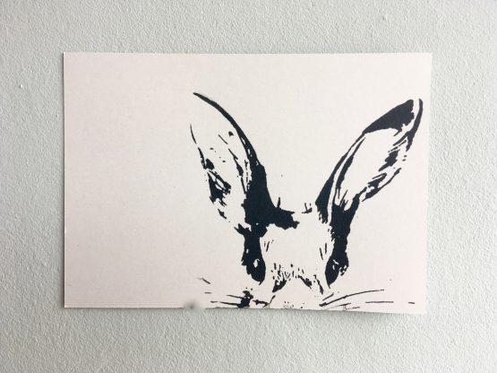Postkarte_Häschen_grau