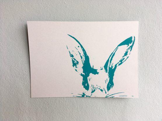 Postkarte_Häschen_mint