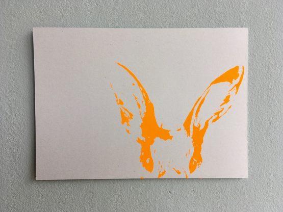 Postkarte_Häschen_neonorange