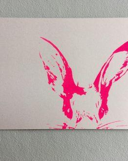 Postkarte_Häschen_pink