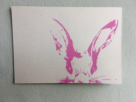 Postkarte_Häschen_rosa
