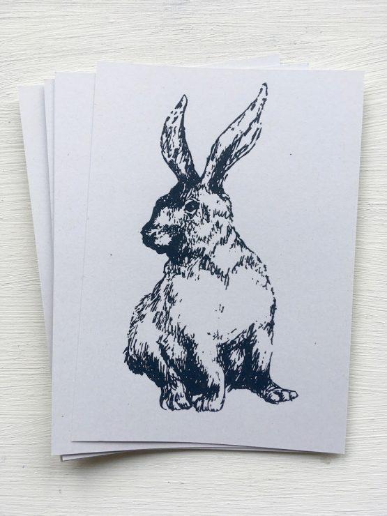 Postkarte Hase