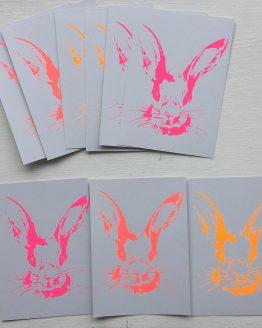 Postkarten_Häschen_verschiedene_neon