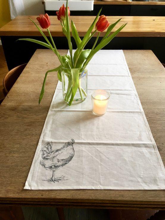 Tischläufer_Huhn
