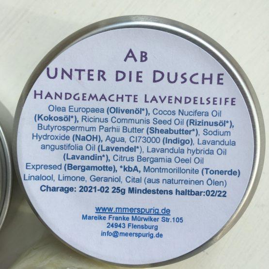Handgemachte Duschseife Lavendel