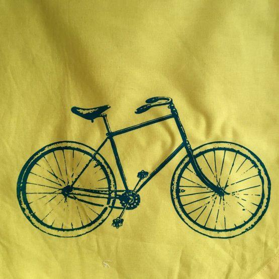 GYM Beutel gelb Fahrrad